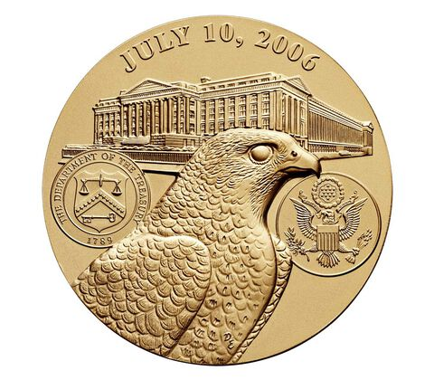 Henry M. Paulson, Jr. Secretary of the Treasury Bronze Medal 3 Inch,  image 2