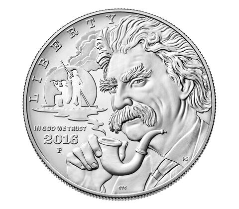 Mark Twain 2016 Uncirculated Silver Dollar