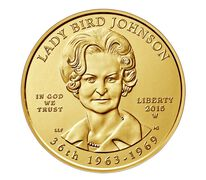 """Lady Bird"" Johnson 2015 First Spouse Series One-Half Ounce Gold Uncirculated Coin"