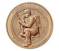 Pueblo of Laguna Tribe Code Talkers Bronze Medal 1.5 Inch