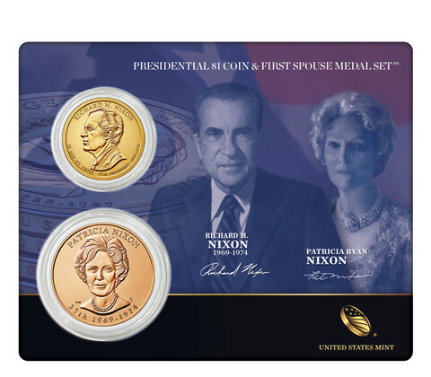 Richard M. Nixon 2016 Presidential $1 Coin & First Spouse Medal Set