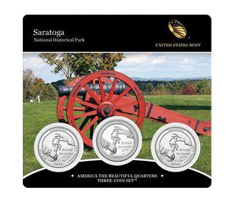 Saratoga National Historical Park 2015 Quarter, 3-Coin Set