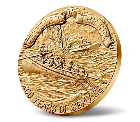 U.S. Coast Guard Bicentennial Bronze Medal 3 Inch,  image 3
