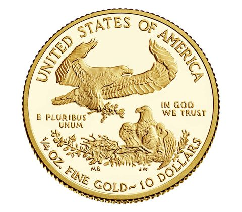 American Eagle 2017 One-Quarter Ounce Gold Proof Coin,  image 2