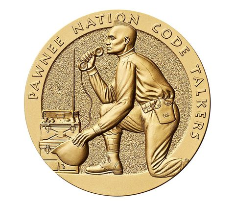 Pawnee Nation Tribe Code Talkers Bronze Medal 3 Inch