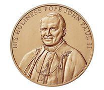 Pope John Paul II Bronze Medal 1.5 Inch