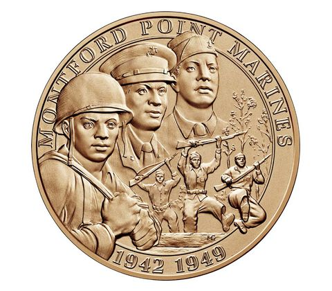 Montford Point Marines Bronze Medal 1.5 Inch