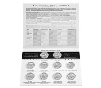 America the Beautiful Quarters 2017 Uncirculated Coin Set