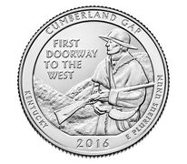Cumberland Gap National Historical Park 2016 Quarter Rolls and Bags