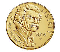 Mark Twain 2016 $5 Gold Uncirculated Coin