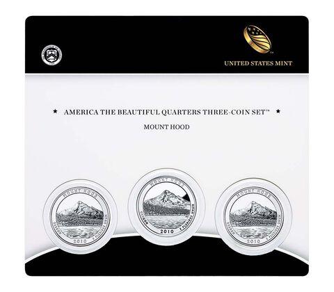 Mount Hood National Forest 2010 Quarter, 3-Coin Set