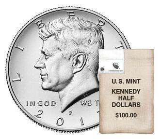 Kennedy 2017 Half Dollar, 200-Coin Bag