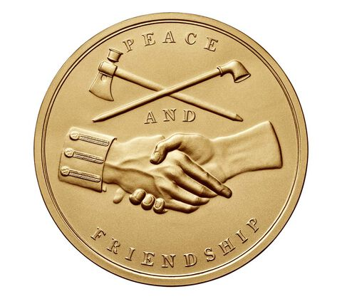 George Washington Bronze Medal 3 Inch,  image 2