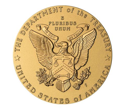 John W. Snow, Secretary of the Treasury Bronze Medal 3 Inch,  image 2
