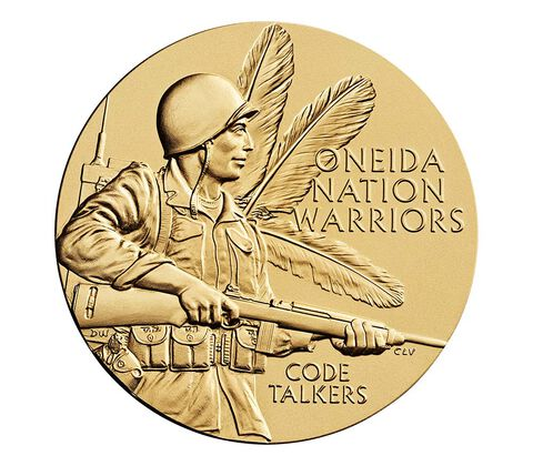 Oneida Nation Code Talkers Bronze Medal 3 Inch,  image 1