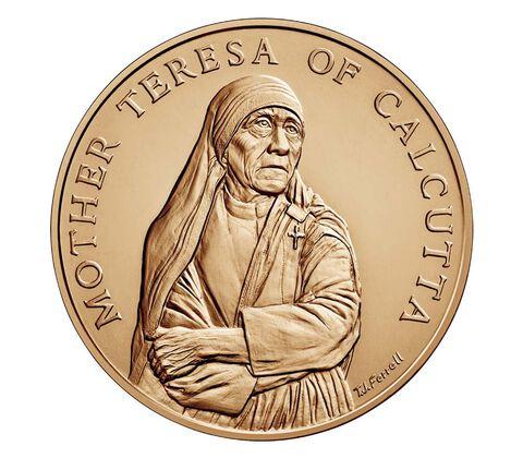 Mother Teresa of Calcutta Bronze Medal 1.5 Inch