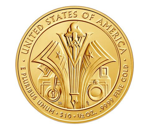 Florence Harding 2014 First Spouse Series One-Half Ounce Gold Uncirculated Coin,  image 2