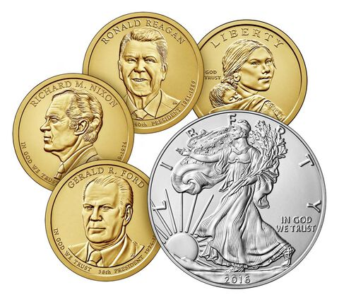 Annual Uncirculated Dollar Coin Set 2016,  image 3