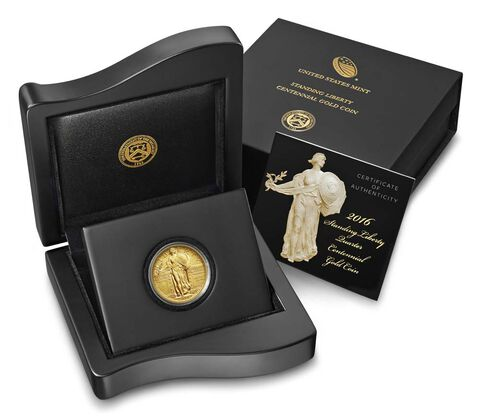Standing Liberty 2016 Centennial Gold Coin,  image 3