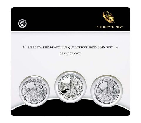 Grand Canyon National Park 2010 Quarter, 3-Coin Set