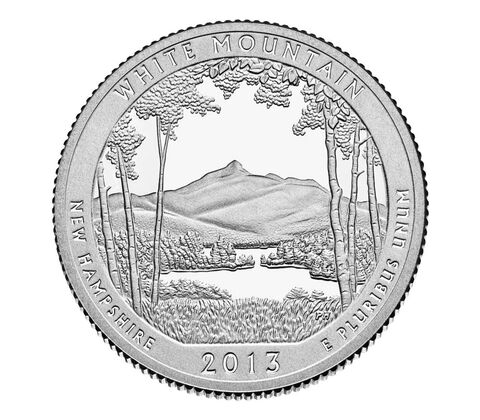 White Mountain National Forest 2013 Quarter, 3-Coin Set,  image 3