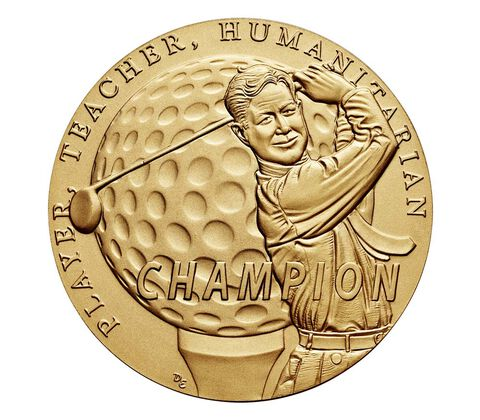 Byron Nelson Bronze Medal 1.5 Inch,  image 2