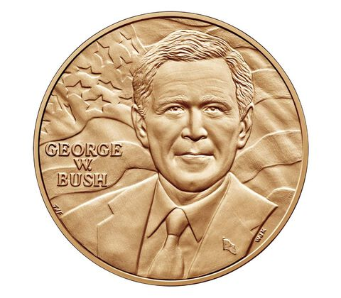 George W. Bush (First Term) Bronze Medal 1 5/16 Inch