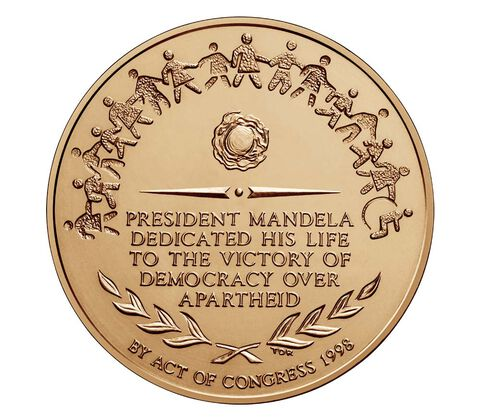 Nelson Mandela Bronze Medal 1.5 Inch,  image 2