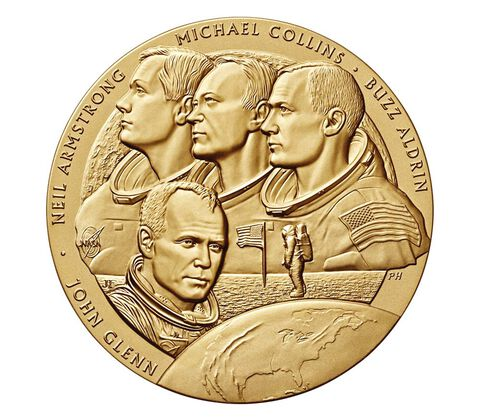 New Frontier Bronze Medal 3 Inch,  image 1