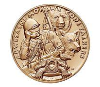 St. Regis Mohawk Tribe Code Talkers Bronze Medal 1.5 Inch