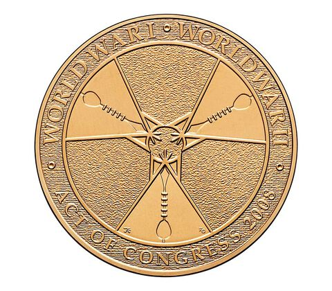 Crow Creek Sioux Tribe Code Talkers Bronze Medal 1.5 Inch,  image 2