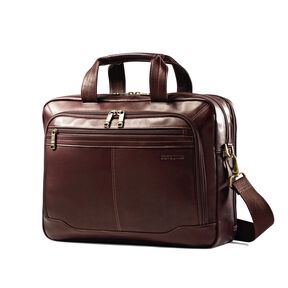 Samsonite Columbian Leather Top Zip 2 Gusset in the color Brown.