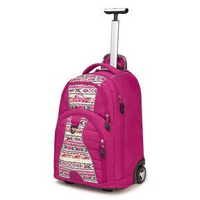 High Sierra Freewheel Wheeled Backpack in the color Razzmatazz/Macrame.