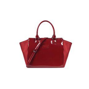 Lipault Plume Vinyle Satchel Bag M in the color Ruby.