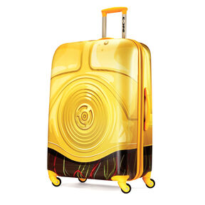 """American Tourister Star Wars 28"""" Spinner in the color C3PO."""