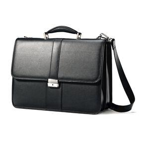 Samsonite Leather Flapover Case in the color Black.