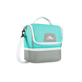 High Sierra Lunch Packs Double-Decker in the color Aquamarine/Ash/White.