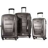 Samsonite Winfield 2 Fashion 3 Piece Spinner Set in the color Charcoal.
