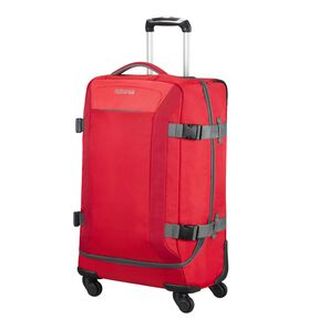 American Tourister Road Quest Spinner Duffle Medium in the color Solid Red.