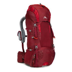 High Sierra Tech 2 Series Hawk 50 Frame Pack in the color Brick/Carmine/Red Line.