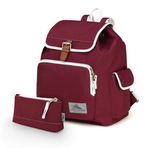 High Sierra Elly Backpack in the color Cranberry/White.