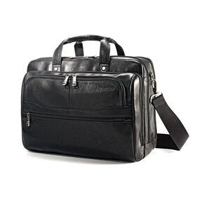 Samsonite Colombian Leather 2 Pocket Business Case in the color Black.