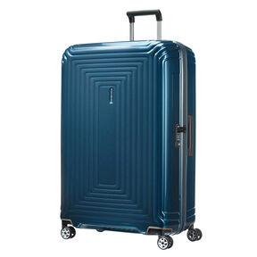 "Samsonite Neopulse Spinner Large (30"") in the color Metallic Blue."