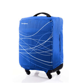 Medium Foldable Luggage Cover in the color Blue.