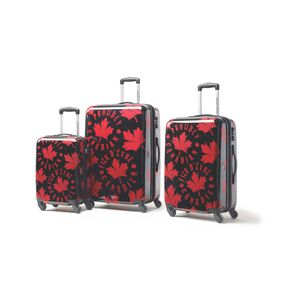 Canadian Tourister Collection 3 Piece Set in the color Proud Leaf Red/Black.