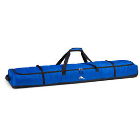High Sierra Deluxe Wheeled Double Ski Bag in the color Vivid Blue/Black.