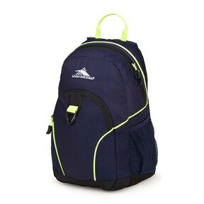 High Sierra Mini Loop Backpack in the color True Navy/Black/Zest.
