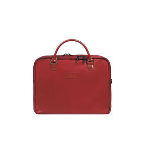 "Lipault Lady Plume Laptop Bailhandle 15.6"" FL in the color Ruby."