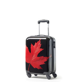 Canadian Tourister Collection Spinner Carry-On in the color Maple Leaf Red/Black.