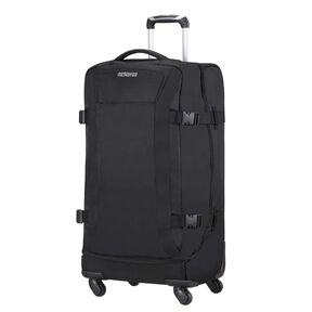 American Tourister Road Quest Spinner Duffle Large in the color Solid Black.